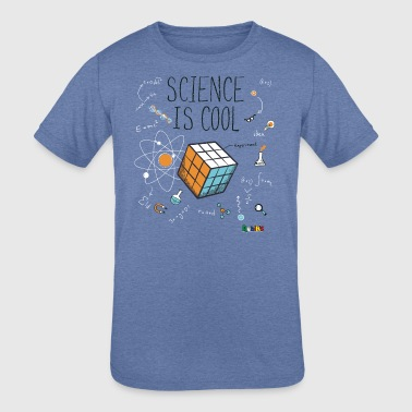 Rubik's Cube Science Is Cool - Kid's Tri-Blend T-Shirt