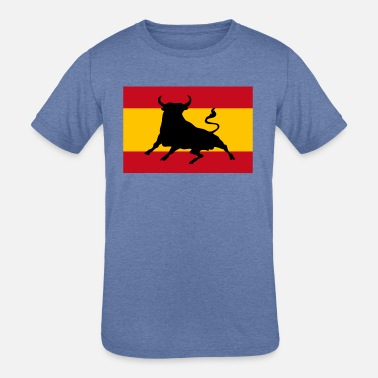Spanish Spanish flag with bull - Kids' Tri-Blend T-Shirt
