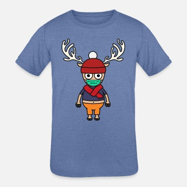 Tony Chopper cute reindeer with face mask - Kids' Tri-Blend T-Shirt