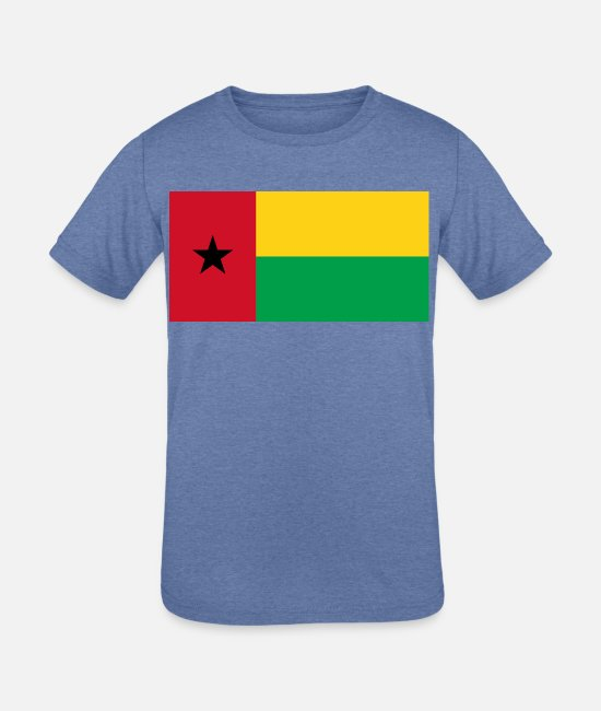 National T-Shirts - Guinea-Bissau country flag love my land patriot - Kids' Tri-Blend T-Shirt heather Blue