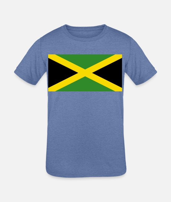 Jamaica Flag T-Shirts - Jamaica country flag love my land patriot - Kids' Tri-Blend T-Shirt heather Blue