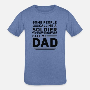 Soldier DAD - Kids' Tri-Blend T-Shirt