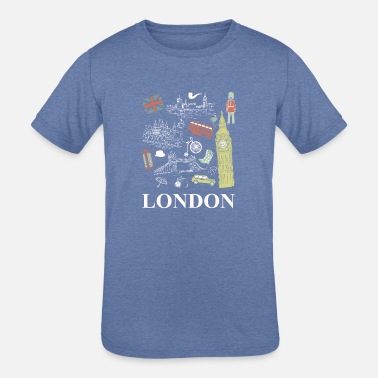 British Funny Novelty Gift For Tourist London - Kids' Tri-Blend T-Shirt