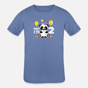 2 Year Old Birthday Cute 2nd Panda Kid Boy Girl Years