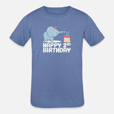 Happy 2nd Birthday Cute Elephant Zoo Animal Gift