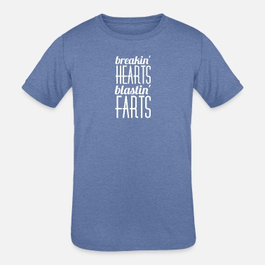 Farting Mom Breakin' hearts blastin' farts - Kids' Tri-Blend T-Shirt