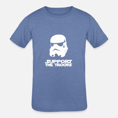 Support The Troops SUPPORT THE TROOPS - Kids' Tri-Blend T-Shirt