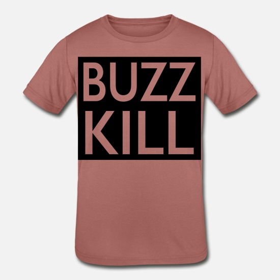Siblings T-Shirts - buzz kill - Kids' Tri-Blend T-Shirt mauve