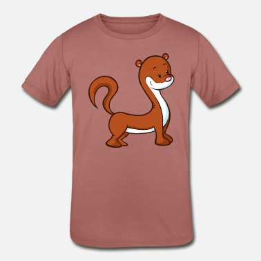 Marten Marten or Weasel - Kids' Tri-Blend T-Shirt