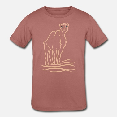 Stylized Animal stylized camel - Kids' Tri-Blend T-Shirt
