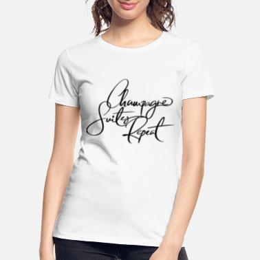 Champagne Champagne Suites - White/Black - Women's Organic T-Shirt