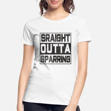 Sparring The Fighter's Sparring Tshirt Design STRAIGHT - Women's Organic T-Shirt