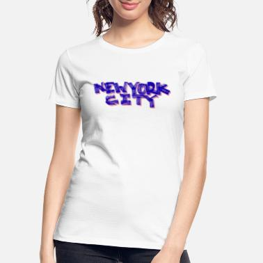 Big Apple New York City Fat Marker (Red, White and Blue) - Women's Organic T-Shirt