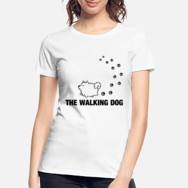 Dog-walking Walking dog - Women's Organic T-Shirt