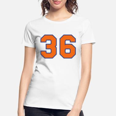 Number 36 Thirty Six Sports Number Woman/'s Jersey T-shirt Front Print