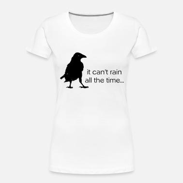 Crow on Branch Women/'s Novelty T-Shirt