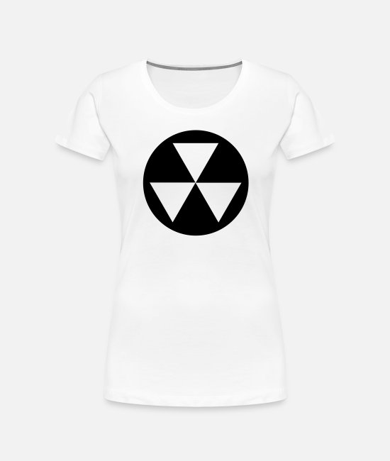 Radiation T-Shirts - Fallout Shelter v2_1_color - Women's Organic T-Shirt white