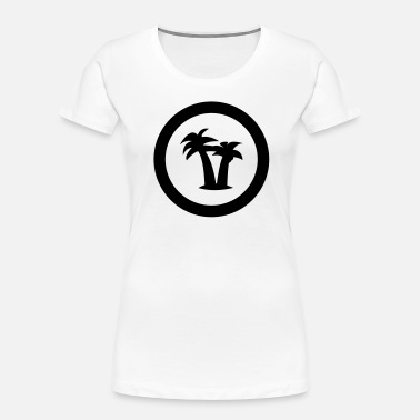 Hollidays palm holliday vacation island - Women's Organic T-Shirt