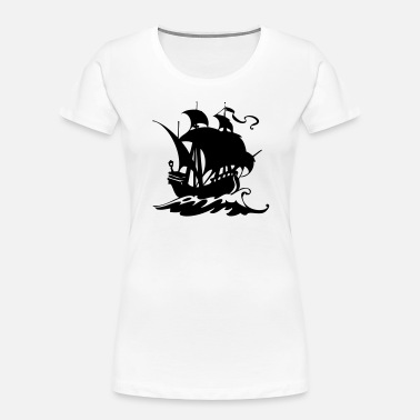 Pirate Ship Pirate ship silhuette 2 - Women's Organic T-Shirt