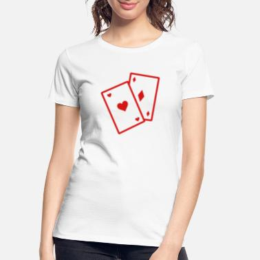 Clubs Gambling Cards 2 (1c) - Women's Organic T-Shirt