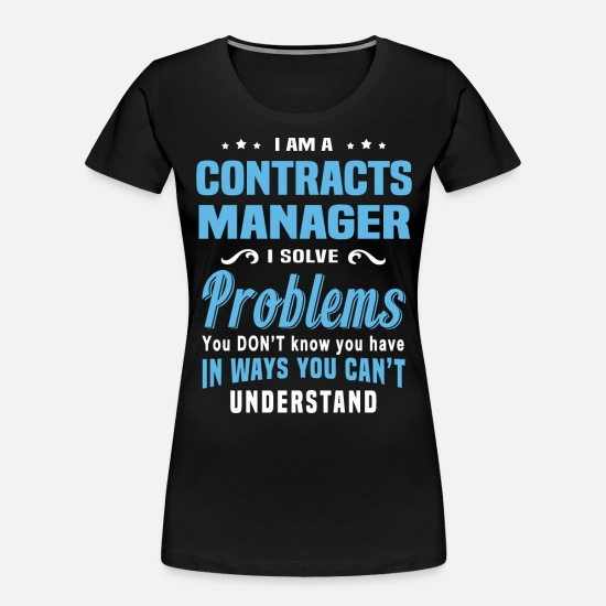 Funny T-Shirts - Contracts Manager - Women's Organic T-Shirt black