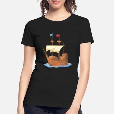 First Father S Day First Thanksgiving Ship - Women's Organic T-Shirt