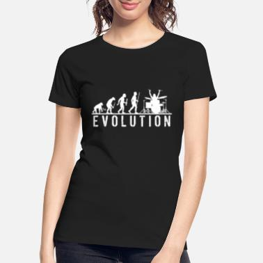 Tama Drums Drum - Evolution of Man and Drums - Women's Organic T-Shirt
