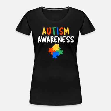 National Autism Awareness Month 2019 Cute Autism Awareness Colorful Puzzle - Women's Organic T-Shirt
