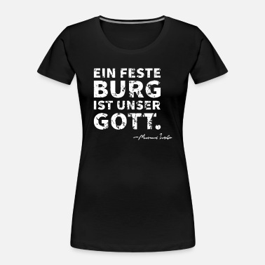 Germanic A Mighty Fortress Is Our God German Lutheran Distr - Women's Organic T-Shirt