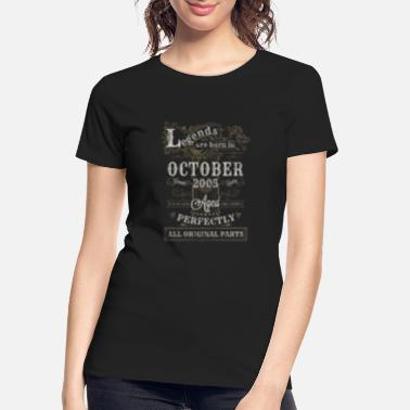 2005 Legends Are Born In October 2005 Birthday - Women's Organic T-Shirt