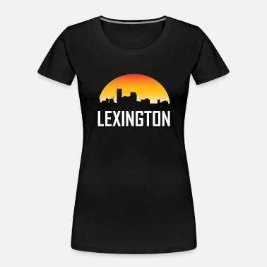 Lexington Ky Lexington Kentucky Sunset Skyline - Women's Organic T-Shirt