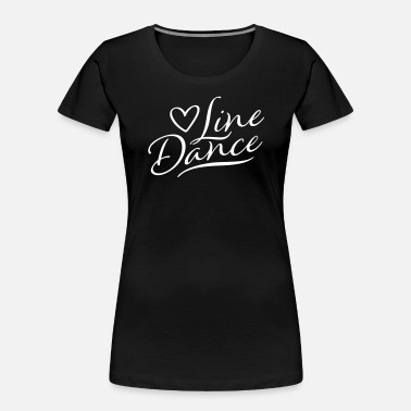 Linedance LOVE LINE DANCE HANDWRITTEN - Women's Organic T-Shirt
