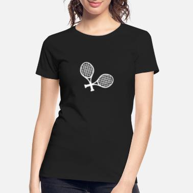 Racket Crossed tennis racket - Women's Organic T-Shirt