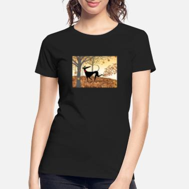 Greyhound Antlers - Women's Organic T-Shirt