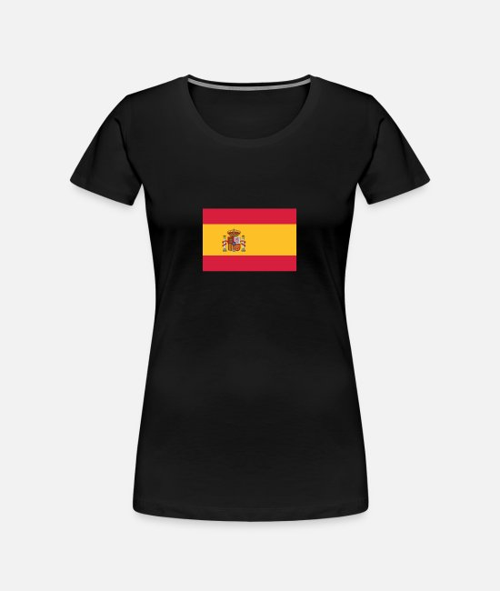 Don Quijote T-Shirts - National Flag Of Spain - Women's Organic T-Shirt black
