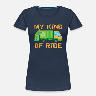 Reduce Garbage Ride Truck Trash Can Collector I Gift Idea - Women's Organic T-Shirt