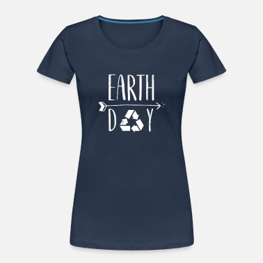 Decoration Earth Day 50th Anniversary Cute Vintage Recycling - Women's Organic T-Shirt