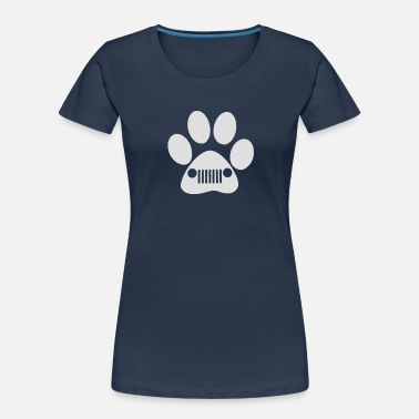 New Heart New Heart and Dog Paw Decal Jeep - Women's Organic T-Shirt