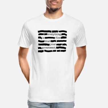 Political Statement Trust Your Government Redacted Political Statement - Men's Organic T-Shirt