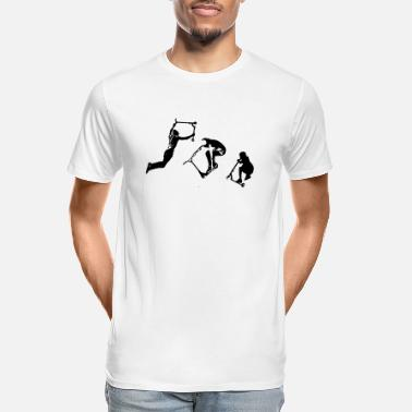 Stunt Stunt Scooter in Action Rider Scoot - Men's Organic T-Shirt