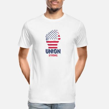 Union Strong Vintage USA Flag Proud Labor Day - Men's Organic T-Shirt