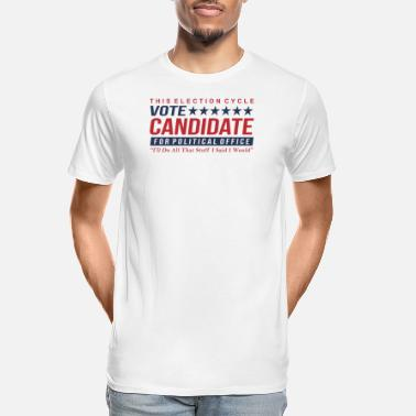 Candidate Vote Candidate - Men's Organic T-Shirt