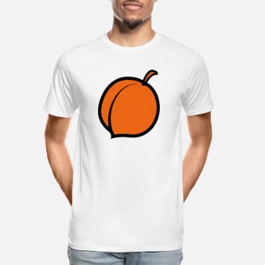 Solitary a single solitary peach fruit - Men's Organic T-Shirt