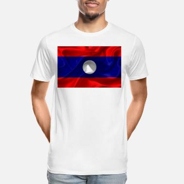 Laos Laos flag - Men's Organic T-Shirt