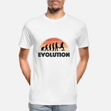 Soccer Fan evolution of soccer - soccer fan - Men's Organic T-Shirt