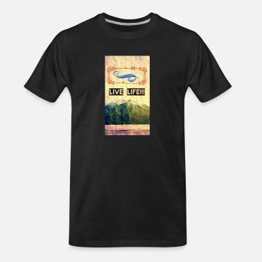 Jagged Peak Live Life - Men's Organic T-Shirt