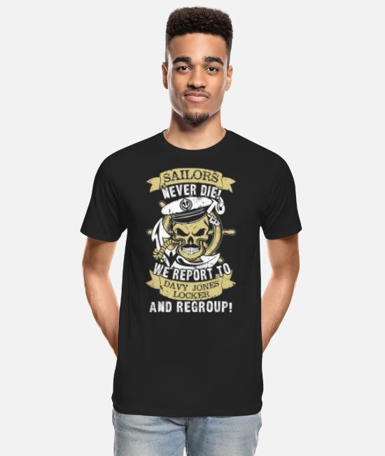 Seabee Nephew Sailor Navy Aunt T-Shirts - Sailors - We report to Davy Jones locker, regroup - Men's Organic T-Shirt black