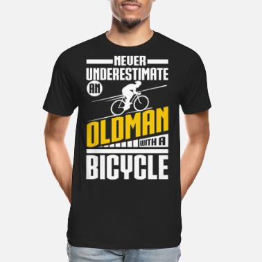 Man Old Man With Bicycle - Men's Organic T-Shirt
