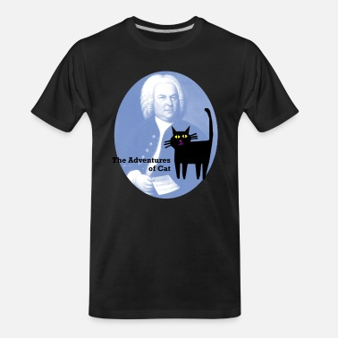 Johann Cat Meets Bach - Men's Organic T-Shirt