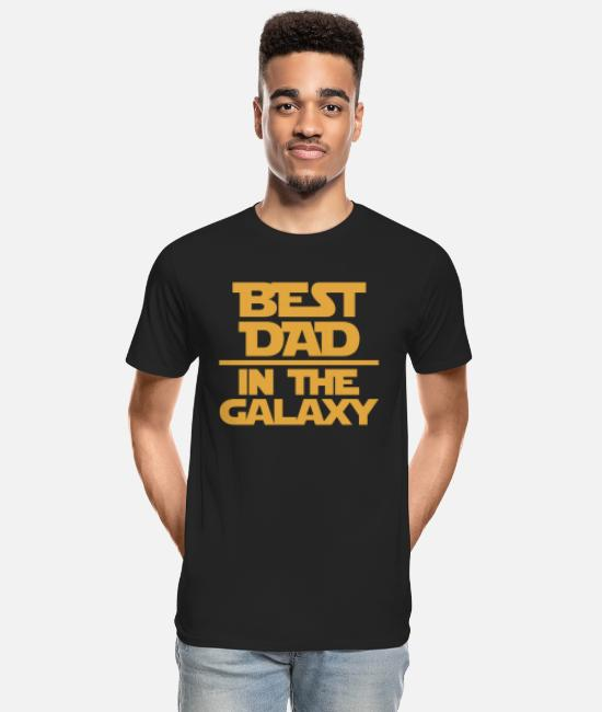 Big Daddy T-Shirts - Dad - THe best husband in the galaxy - Men's Organic T-Shirt black
